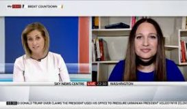 Ksenija Pavlovic Mcateer for Sky News on Impeachment Inquiry