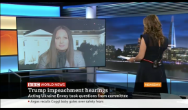 BBC World: Ksenija Pavlovic Mcateer on Trump Impeachment hearings